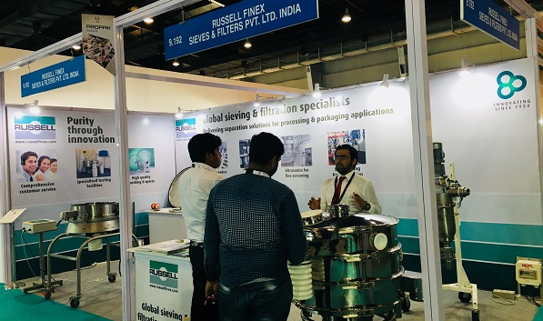 Sieving and filtration equipment at ProPak India