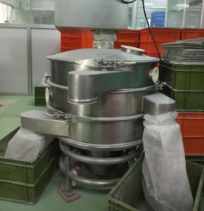 Vibrating screen for food powders